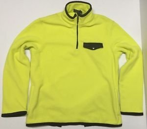 Polo Ralph Lauren Fleece Mockneck Pullover-NEON YELLOW-Large $145 NWT