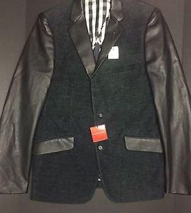 Saks Fifth Avenue-TrimFit Faux Leather/Corduroy Sportcoat Medium NWT  $325 MSRP