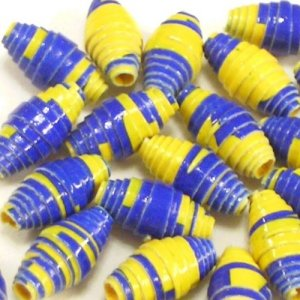 Paper Beads - 24 Small - Wolverines