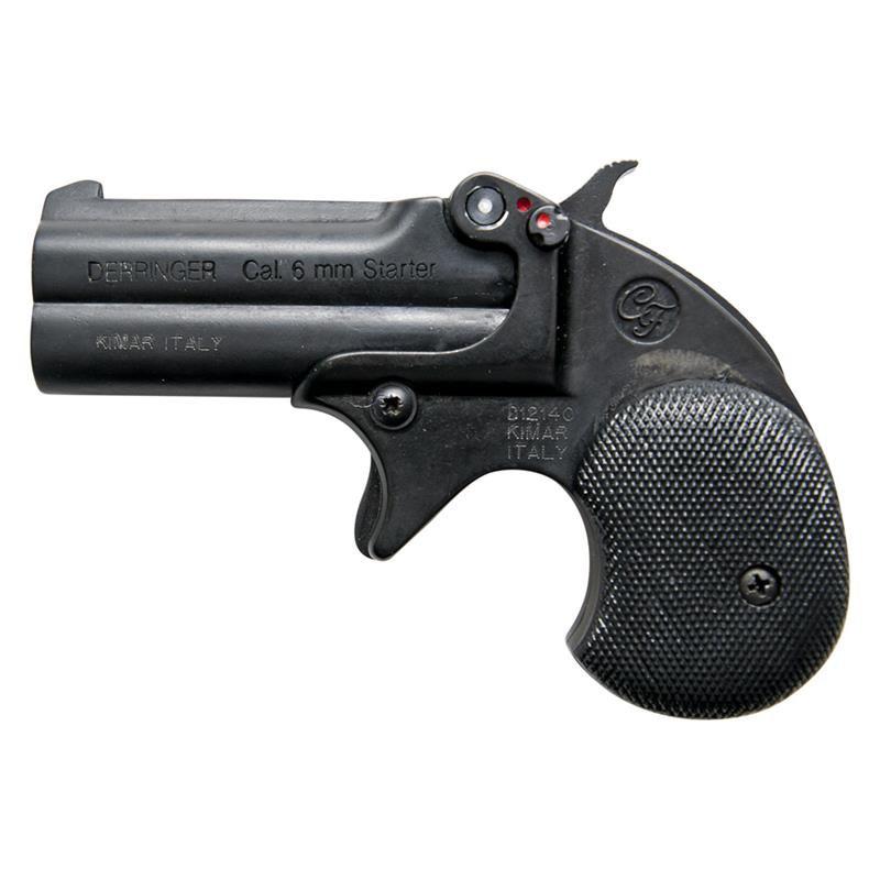 BLANK FIRING GUN DERRINGER KIMAR OLD WEST REPLICA .22 CALIBER BLACK FINISH