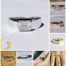 1.75 Ct Emerald Cut Bezel Set Solitaire Engagement Men's Ring In 14k white Gold