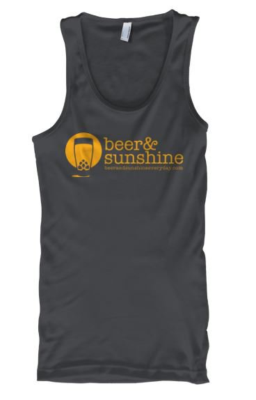 Woman's LARGE Tank Top Modern Logo beer and sunshine