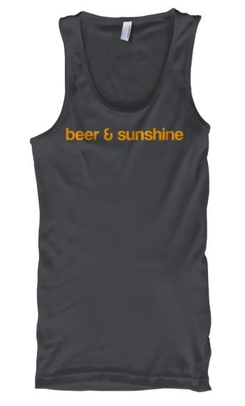 Woman's LARGE Tank Top Classic Logo beer and sunshine