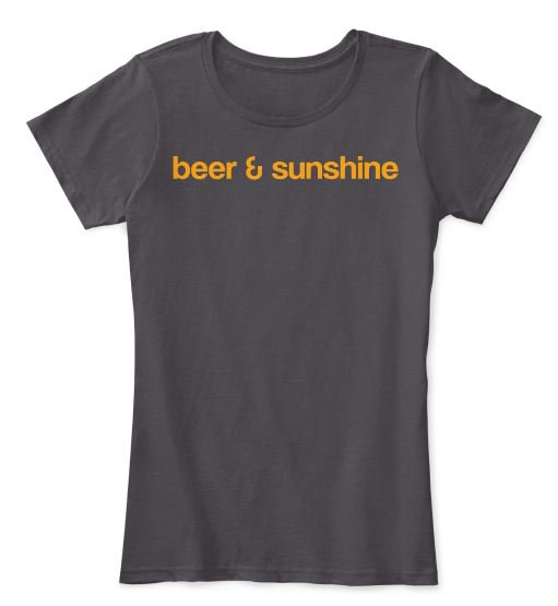 Woman's LARGE T-Shirt Classic Logo beer and sunshine Crew Neck