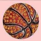 Orange Rhinestone Basketball