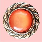 Salmon Colored Stone with silver rope