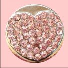 Silver and Pink Rhinestone