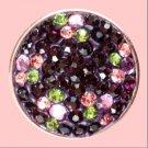 Purple Rhinestone and accent flowers