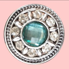Pale Green with Rhinestones