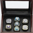 One set (7PCS) New York Yankees Championship Ring 1977 1978 1996 1998 1999 2000 2009 Replica