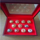 St Louis Cardinals Ring Set...11 Pieces. In Beautiful Wooden Box.