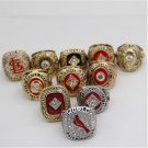 St Louis Cardinals Ring Set...11 Pieces. Rings Only..No Box
