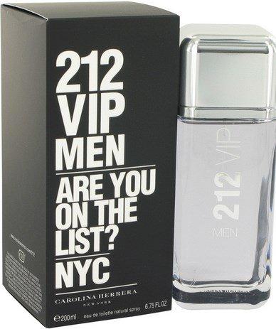 212 Vip Cologne  By Carolina Herrera for Men. 6.7 oz