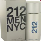 212 Cologne  By Carolina Herrera for Men. 6.8 oz