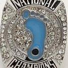 2017 North Carolina Tar Heels Basketball Championship Ring... zinc alloy ..no box