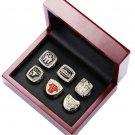 Replica Chicago Bulls Championship Rings Set With Wooden Box. Jordan Rings. Sizes 8-14
