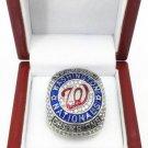 Custom Replica 2019 Washington Nationals World Champions Ring . In Wood Box