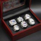 Custom Replica New England Patriots Super Bowl 6 pcs Ring set.... . In Box