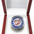 Elite 2019 Washington Nationals World Champions Ring..sterling silver. YOUR NAME AND NUMBER in box