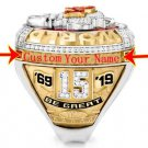 Kansas City Chiefs 2019 Championship. Custom ring with your name.