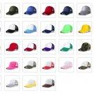 Trucker Hat Mesh Baseball Cap Snapback Adjustable Flat Visor Plain Hip Hop Mens Hat