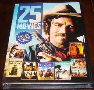 25 Movies Westerns On 4 DVD Dics (New Unopened)