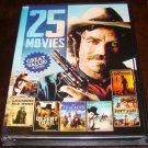 25 Movies Westerns On 4 DVD Dics (New Unopened)