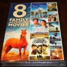 8 Family Adventure Movies On DVDs (New Unopened)