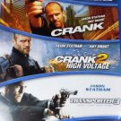 Jason Statham Triple Feature Action Blu-Ray Movies (New Unopened)