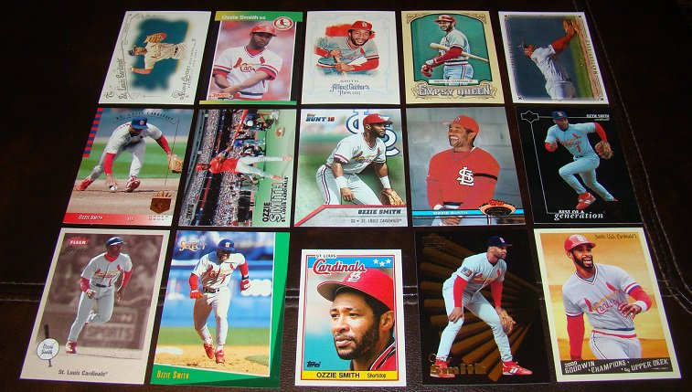 Ozzie Smith 25 Different Baseball Cards Lot St. Louis Cardinals