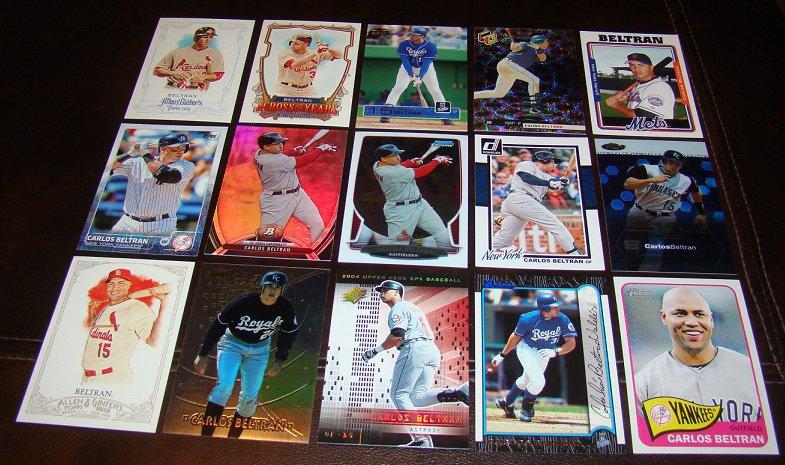 Carlos Beltran 25 Different Baseball Cards Lot