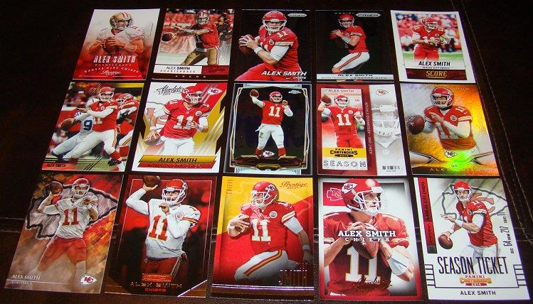 Alex Smith 25 Different Football Cards Lot Kansas City Chiefs