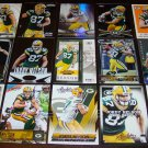 Jordy Nelson 25 Different Football Cards Lot Green Bay Packers