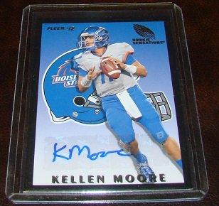Kellen Moore 2012 Fleer Rookie Sensations Autograph Football Card Boise State