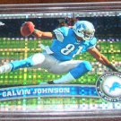 Calvin Johnson 2011 Topps Chrome Atomic Refractor Football Card Detroit Lions