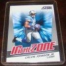 Calvin Johnson 2011 Score In The Zone Insert Football Card Detroit Lions