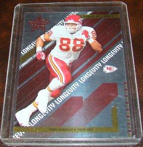 Tony Gonzalez 2004 Leaf R&S Longevity Parallel Football Card Serial # 41/125