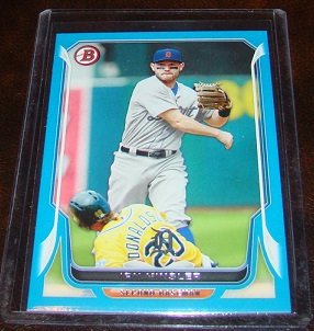 Ian Kinsler 2014 Bowman Blue Parallel Baseball Card Serial # 198/500
