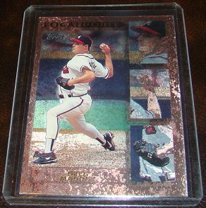 Greg Maddux 1996 Topps Focal Point Insert Baseball Card