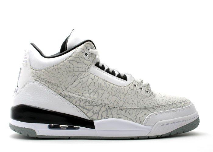 """Air Jordan 3  - """"flip"""" white/metallic silver-black"""