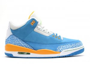 "Air Jordan 3  -  ""do the right thing"" brisk blue/radient green-pro gold"