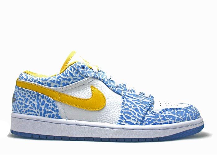 Air Jordan 1  -  white/varsity maize-university blue