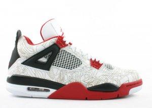"""Air Jordan 4 - """"laser"""" white/varsity red-black"""