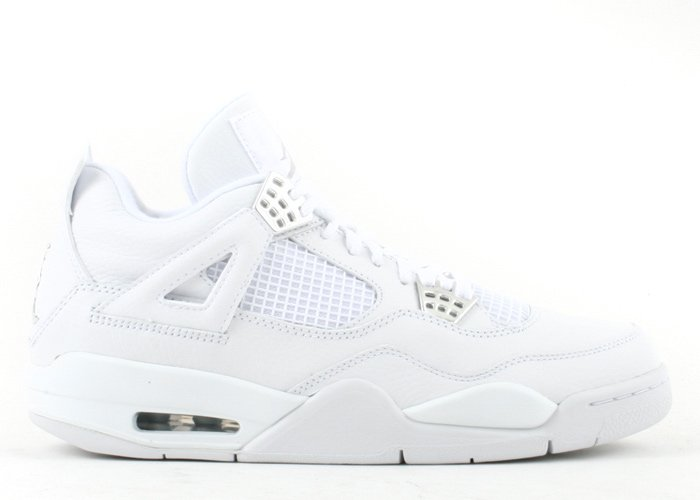 "Air Jordan 4 - ""pure"" white/metallic silver"