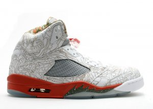 "Air Jordan 5 -  ""laser"" white/army olive-solar orange-bison"