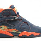 Air Jordan 8 - midnight navy/pea pod-orange blaze
