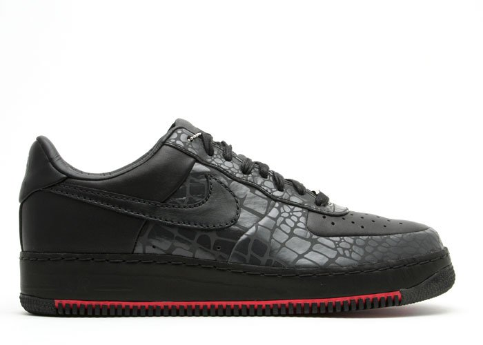 "Air Force One Low - ""rosie's dry goods"" black/black-pearl white"