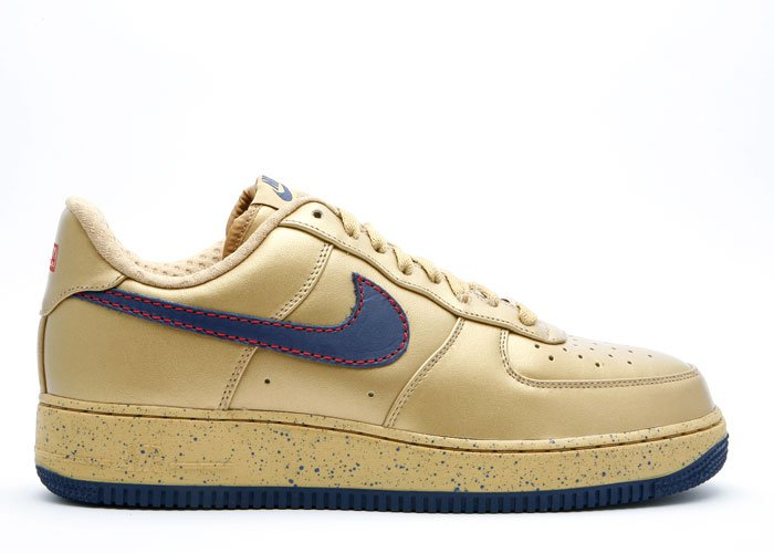 "Air Force One Low - ""barkley pack"" metallic gold/midnight navy"