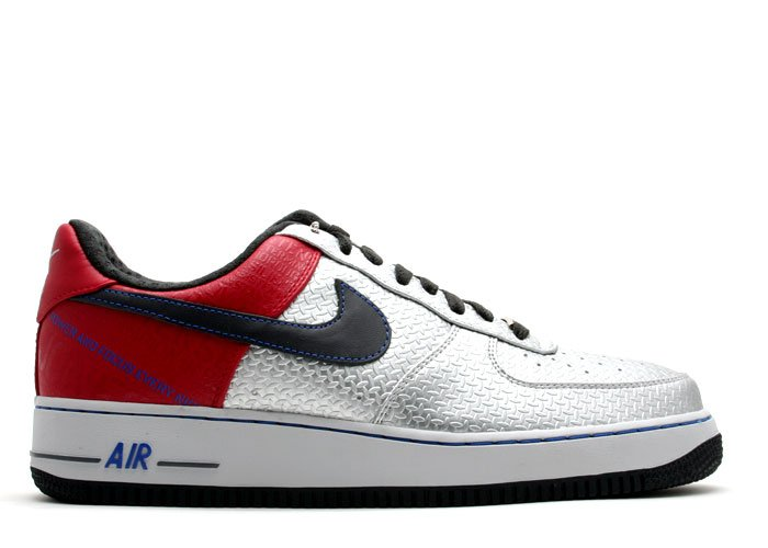 """Air Force One Low - """"original six"""" metallic silver/anthracite-varsity red"""