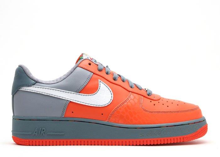 Air Force One Low - orange blaze/white-stealth-bl graphite